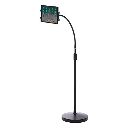 サンワダイレクト iPad タブレット フロアスタンド 高さ133~185cm 7.9~13インチ対応 高さ調節 角度調節 回転 くねくねアーム 100-MR140