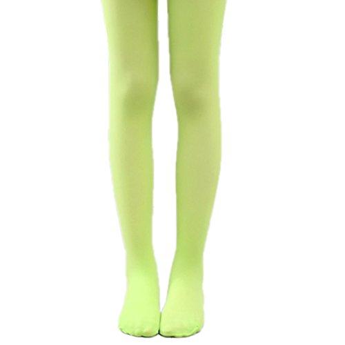 18MM Kinder Strumpfhose Mädchen Feinstrumpfhose Leggins Schulstrumpfhosen (L - (5-7 Jahre) 110 cm - 130 cm, Grün)
