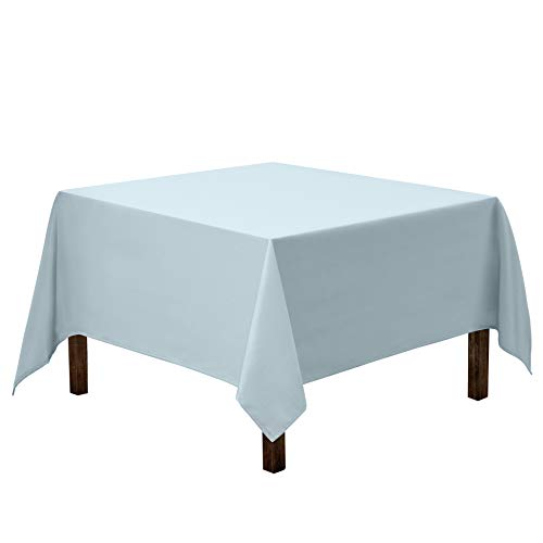 Gee Di Moda Square Tablecloth - 85 x 85 Inch - Baby Blue Square Table Cloth for Square or Round Tables in Washable Polyester - Great for Buffet Table, Parties, Holiday Dinner, Wedding & More