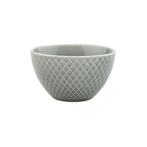 BUTLERS Hanami Schale in Grau mit Rauten Ø 12,5 cm - Asiatische Reisschale - Müslischale, Müslischüssel, Salatschale