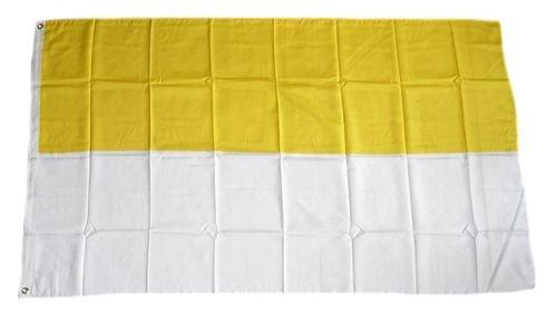 Fahne / Flagge gelb / weiß Kirchenflagge 90 x 150 cm