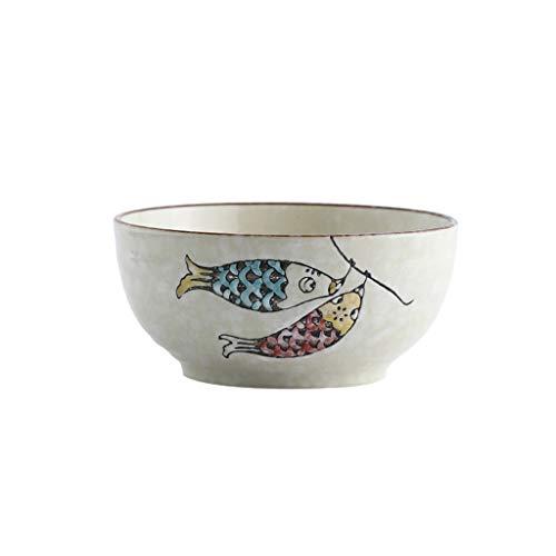 GLLP Vajilla Noodle Bowl Hogar Grande de cerámica de Fideos instantáneos Plato...