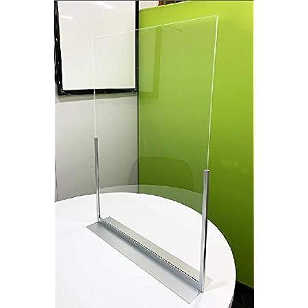 翌日発送!日本製 コロナウイルス対策 アクリル 飛沫感染防止 透明 間仕切り 仕切り板 パネル オフィス 飲食店 パーティーション テーブル 一人席 W316H605D103
