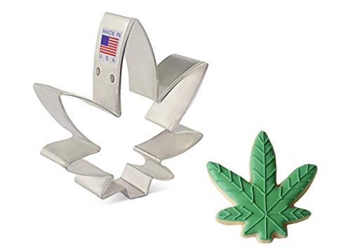 Ann Clark Cookie Cutters Cortador de galletas de marihuana / hoja de maceta, 8,9 cm