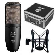 AKG P220 Large-Diaphragm Condenser Microphone with Shockmount, Carrying Case and 1-Year Extended Warranty