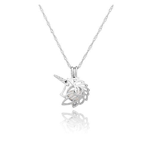 WDSFT Collar Delicado para Mujer Collar para Mujer, Cadena de clavícula de Perla, Colgante de Collar Simple de Moda para niñas Joyería, Regalos para el Aniversario de cumpleaños Día de San Valentín