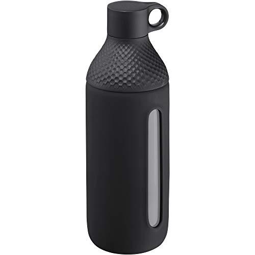 WMF Waterkant Teeflasche Glas 500ml, Borosilikatglas, Trinkflasche mit Schutzhülle, Glasflasche Kohlensäure geeignet, Drehverschluss, auslaufsicher