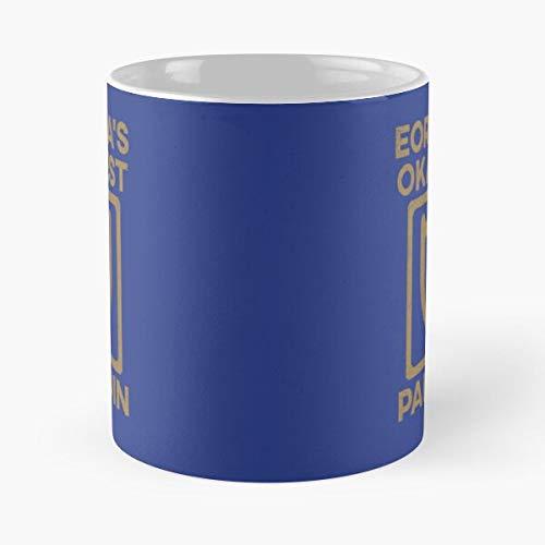 Eorzeas Okayest Pld Xiv – Taza de café de cerámica de mármol blanco que personalizo