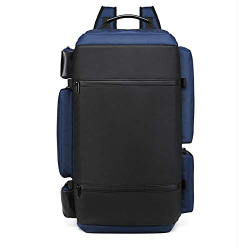 Mountaineering Backpack Camping Hiking Backpack Men's Travel Backpack Outdoor Multifunctional Anti-Theft Backpack Male USB Sports Waterproof Backpack-Navy Blue