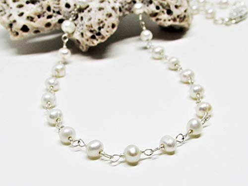 Cultured Freshwater Deluxe Pearl Necklace- Sterling 14K or Store Silver Gold