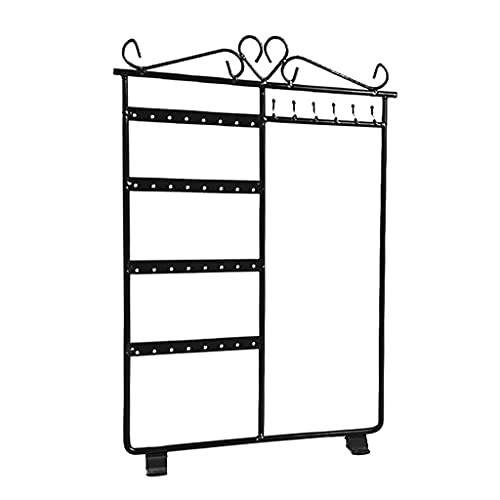 SDENSHI Soporte para Pendientes Organizador de Joyas Colgador de Collares Soporte Exhibición de Joyas en Rack - Negro, tal como se describe