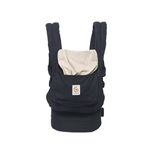 Ergobaby Babytrage Original Black Camel, 3-Positionen Baby-Tragetasche Kindertrage, Baby-Tragesystem
