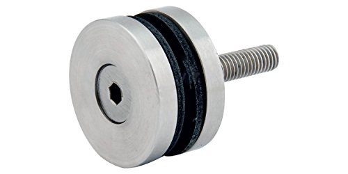 Punkthalter v2A raccord droit-diamètre 40 mm-épaisseur : 18 mm, poli