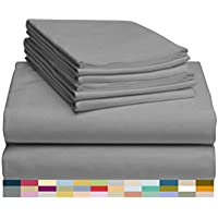 6-Pieces LuxClub Bamboo Sheet Set with 18