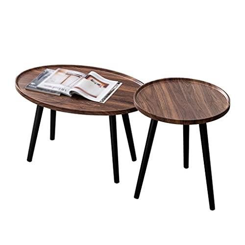 Mesa de centro pequeña Tabla de café de la mesa de té ovalada de la mesa de café, utilizado en la sala de estar de la sala de estar de la habitación Mesa de lado industrial de la oficina 80 × 45 cm pe