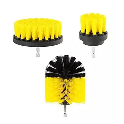Cepillo Taladro Eléctrico, 3 Pieces Cepillo de Taladro Multifuncional Drill Brush Kit, Accesorios de Limpieza Brocha para Automóvil, Alfombra, Baño, Piso, Azulejo