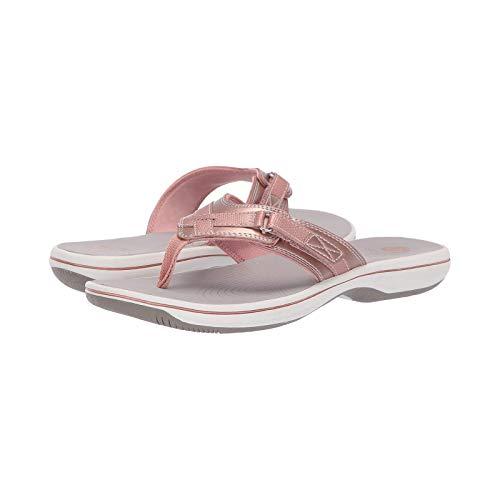 Sandalias para mujer y hombre, cómodas, ortopédicas, con correa de cuero de espuma de yoga, zapatos de playa de verano casuales, color Rosa, talla 50 EU