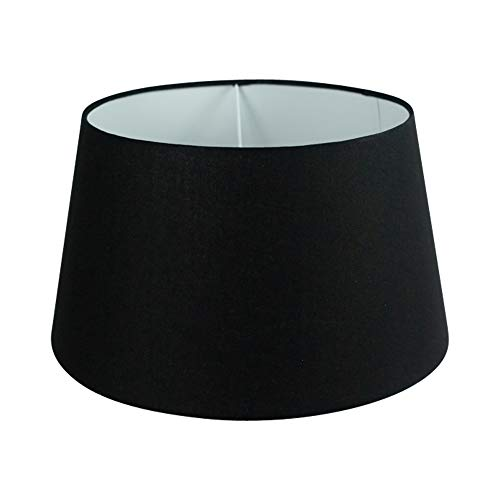 Wogati Premium Lampenschirm 35 cm x 27 cm x 20 cm / Tischleuchte / Stehlampe/ Schwarz / Stoff / E27 / E14 / inklusive Adapter