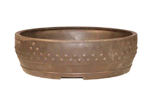 Bonsaiboy Brown Mica Bonsai Pot - Round 14' X 3.75' OD 13.0' X 3.0' ID