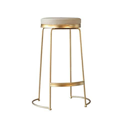 Sgabello da Bar Dressing Table Chair, Gold Iron Art Bar Household Sedia forte e robusta creativo per il tempo libero Bar Counter High Sgabello Makeup Chair (Size : 75CM)