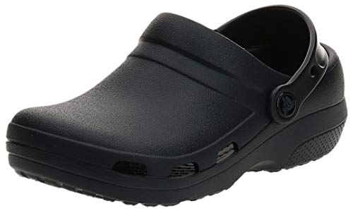 Crocs Men's and Women's Specialist II Vent Clog | Work Shoes, Black, 10