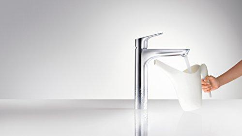 Hansgrohe – Waschtisch-Einhebelarmatur, ohne Ablaufgarnitur, QuickClean, EcoSmart, Chrom, Serie Focus 190 - 5