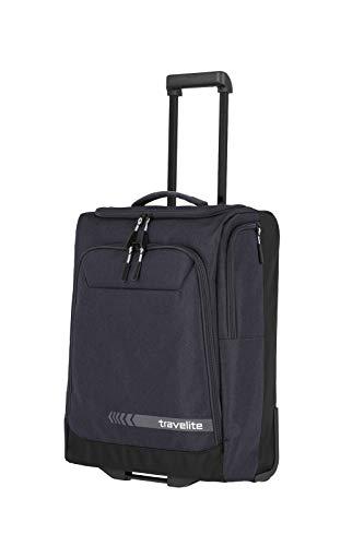 travelite Trolley Reisetasche Größe S Handgepäck, Gepäck Serie KICK OFF: Praktische Reisetasche mit Rollen für Urlaub und Sport, 006909-04, 55 cm, 44 Liter, d'anthrazit (grau)