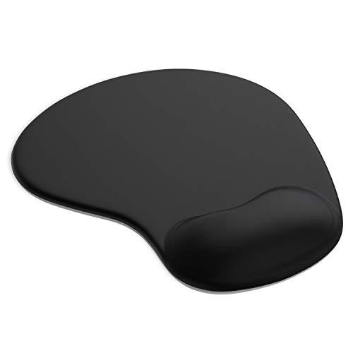 Gel Mauspad ergonomische Handgelenkauflage - Office Komfort Mousepad - Handgelenkpolster Handauflage - Gelkissen Gelpolster - Maus und Tastatur - abwaschbar - für Computer Laptop Notebook