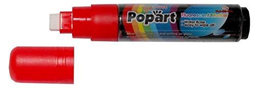 LEVIATAN Chalk Marker - Marcador de tiza (15 g, borrable), color rojo
