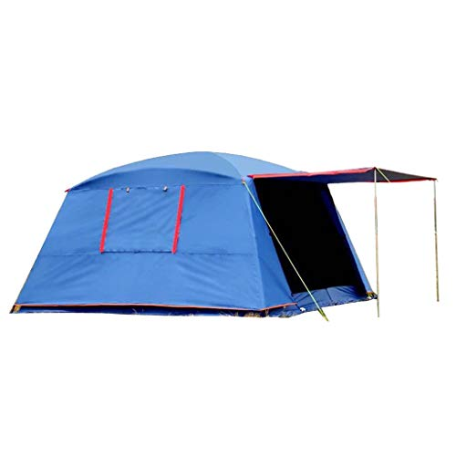 HQQ wasserdichte Doppelschicht Outdoor Sun 4 Ecken Gartenlaube/Multiplayer Party Camping Zelt/Markise/Sonnendach (Color : Blue)