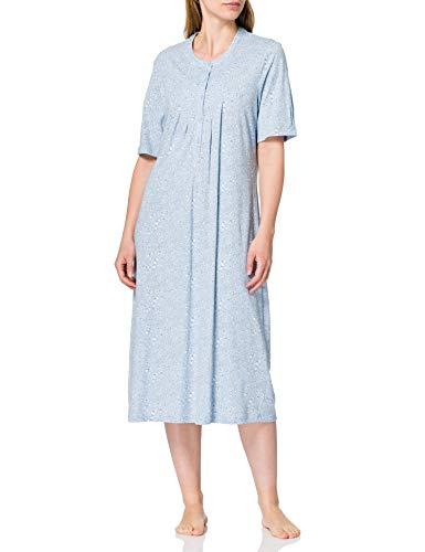 Schiesser Damen 1/2 Arm, 110cm Nachthemd, hellblau, 44