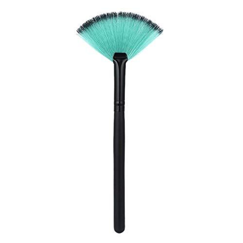 LeftSuper Pincel de Maquillaje Pincel de Maquillaje pequeño en Forma de Abanico Pincel para Polvo en Forma de Paraguas Mango de Madera Cabello de Fibra de Dos Colores