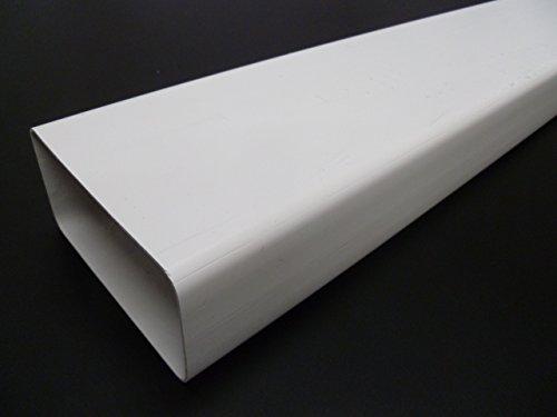 saneaplast Rechteckrohr–PVC weiß 147x 70x 1,5–420511