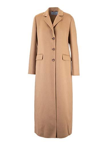 Prada Luxury Fashion Damen P641LS1921CRUF0040 Braun Wolle Mantel | Herbst Winter 19