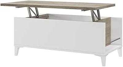 Marque Amazon - Movian Kaysa Table basse, 50x100x42cm, Blanc