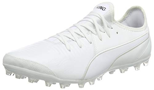 PUMA Męskie buty do piłki nożnej King Pro Mg, Puma White Puma White - 41 EU