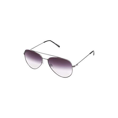 Tommy Hilfiger Men-Women Aviator Sunglasses Grey Frame Grey Lens Large