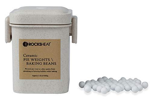 ROCKSHEAT Ceramic Pie Weights Baking Beans