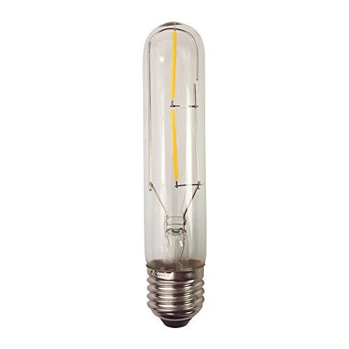 2W T10 E27 Tornillo de Base Bombilla de Luz Incandescente Jaula de Repuesto Vintage Light Retro Edison Style Led Cob Lamp Bulbs, Blanco Cálido 2300K, 1 Pack