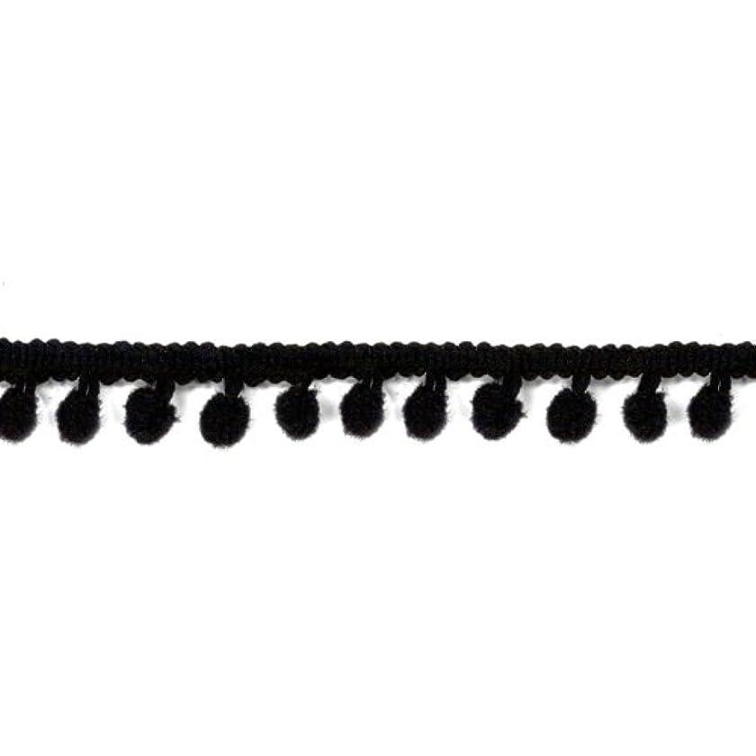 American Crafts 1/2-Inch Pompom Ribbon, 3-Yard Spool, Black