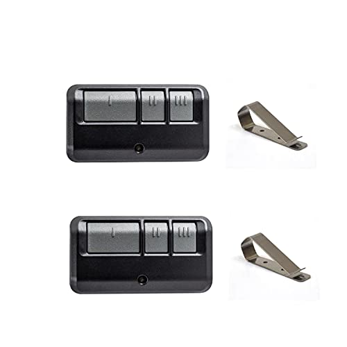ASONPAO 953ESTD 950ESTD 893LM 891LM 3 Button Remote only for(Yellow Learn Button) of Chamberlain/Liftmaster Garage Door Opener Security+ 2.0 myQ(2Pack)