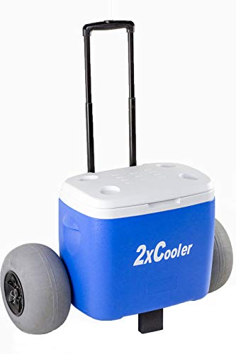Wheeled Cooler with Inflatable Tires/ Perfect for The Beach