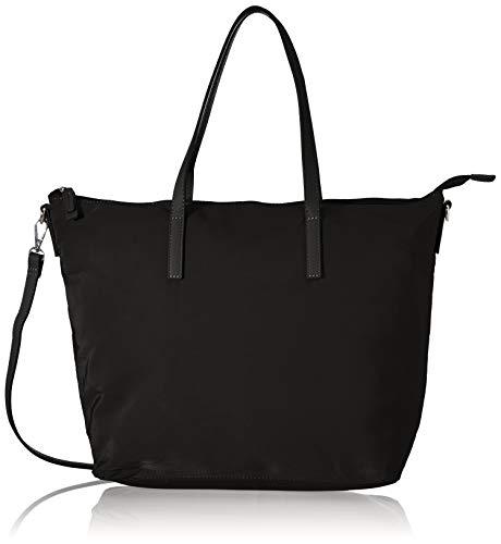 TOM TAILOR bags LARA Damen Shopper L, Schwarz , 48x14x31