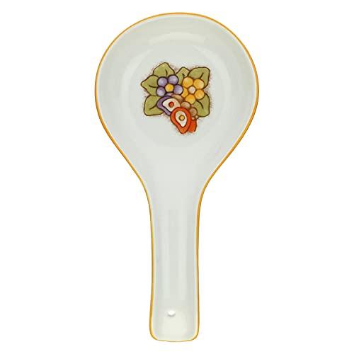 THUN - Apoya cucharones de porcelana Country con mariposa y flores.