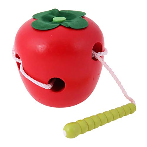 Caterpillar Eat Fruit Threading Toy Frutas Cordones Threading Puzzle Toy Niños Inteligencia Development Toy