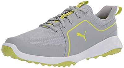 PUMA Golf Men's Grip Fusion Sport 2.0 Golf Shoe, High Rise-Limepunch, 9 M US