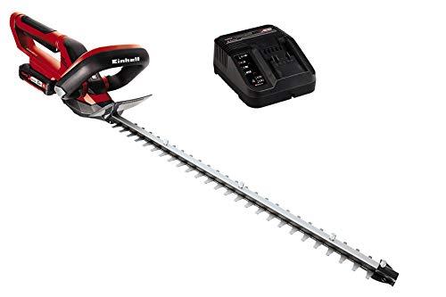 Einhell 3410503 Akku-Heckenschere GE-CH 1855/1 Li Kit Power X-Change (Li-Ion, 18 V, 55 cm Schnittlänge, lasergeschnittene, diamantgeschliffene Messer, inkl. 1 Stück Batterie 2Ah.)