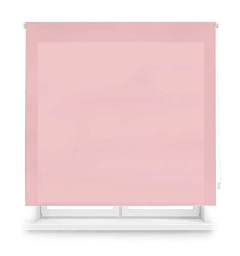 Blindecor Ara - Estor enrollable translúcido liso, Rosa, 140 x 175 Cm (ancho x alto)