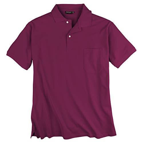 Redfield Piqué Poloshirt brombeer Übergröße, XL Größe:5XL