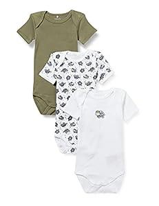 NAME IT NBMBODY 3P SS Loden Turtle Noos Conjunto de Ropa Interior para bebés y niños pequeños, Verde, 2 Mes